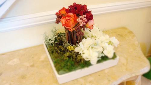 お花のオブジェです。